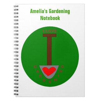 I Love Gardening Custom Notebook