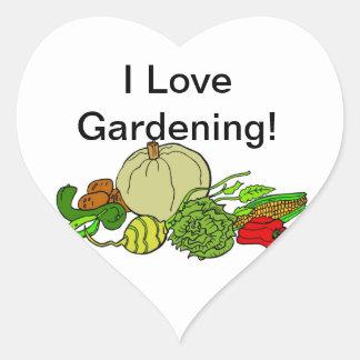 I Love Gardening! Heart Sticker
