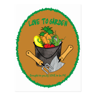 I LOVE GARDENING - LOVE TO BE ME POSTCARD