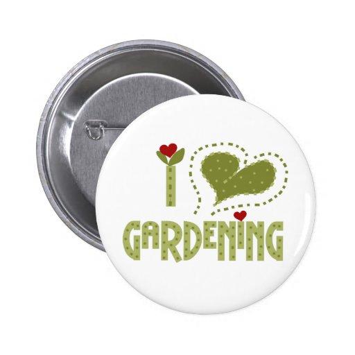 I Love Gardening Pin
