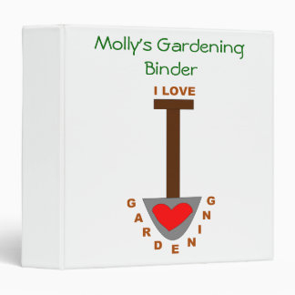 I Love Gardening Spade Custom Gardening Binder