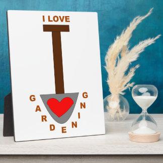 I Love Gardening Spade Plaque
