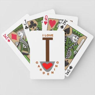 I Love Gardening Spade Playing Cards