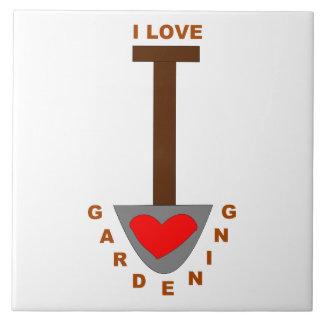 I Love Gardening Spade Tile