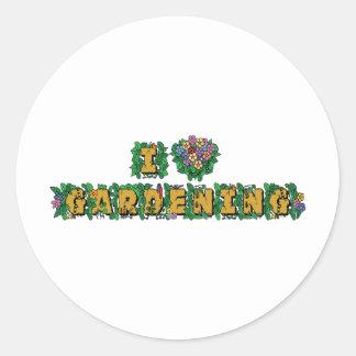 I Love Gardening Classic Round Sticker