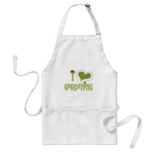 I Love Gardening Tshirts and Gifts Adult Apron