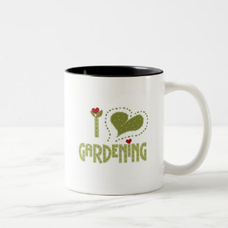 I Love Gardening Tshirts and Gifts Two-Tone Coffee Mug