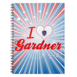 I Love Gardner, Massachusetts Spiral Notebooks