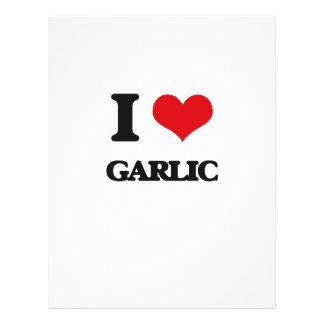"I love Garlic 8.5"" X 11"" Flyer"