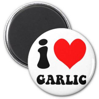 i love garlic fridge magnet