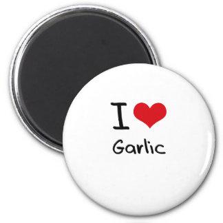I Love Garlic Refrigerator Magnets