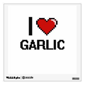 I Love Garlic Wall Decal