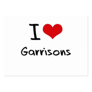 I Love Garrisons Large Business Cards (Pack Of 100)