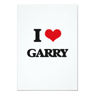 I Love Garry 3.5x5 Paper Invitation Card