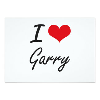 I Love Garry 5x7 Paper Invitation Card