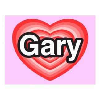 I love Gary. I love you Gary. Heart Postcard