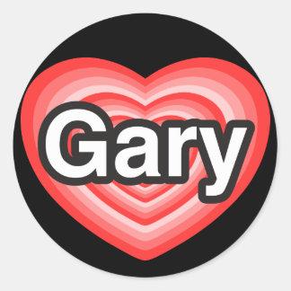 I love Gary. I love you Gary. Heart Stickers