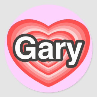 I love Gary. I love you Gary. Heart Sticker