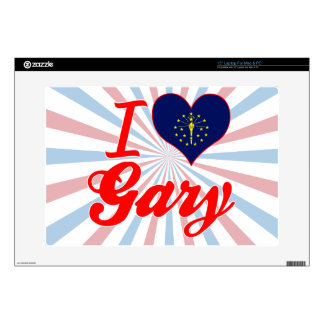 """I Love Gary, Indiana Decals For 15"""" Laptops"""