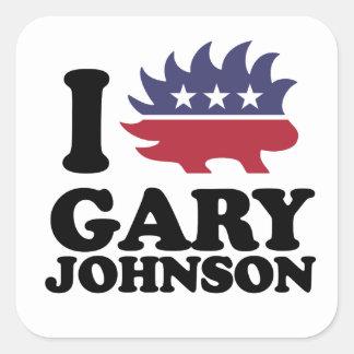 I Love Gary Johnson - Libertarian - -  Square Sticker