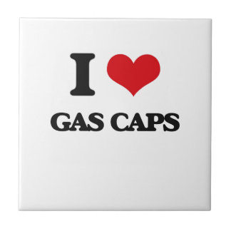 I love Gas Caps Small Square Tile