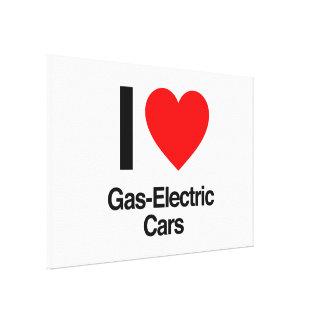 i love gas-electric cars canvas print
