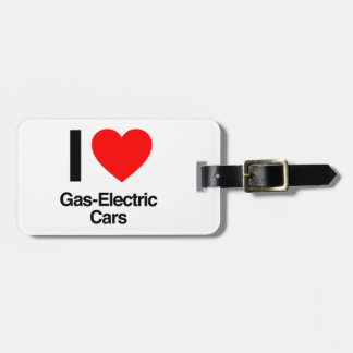 i love gas-electric cars luggage tags
