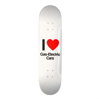 i love gas-electric cars skate deck
