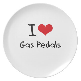 I Love Gas Pedals Party Plates