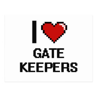 I love Gate Keepers Postcard