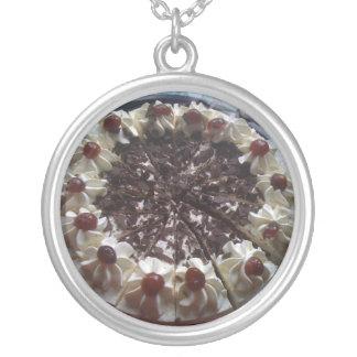 I Love Gateau Round Pendant Necklace