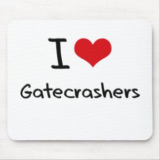 I Love Gatecrashers Mouse Pad