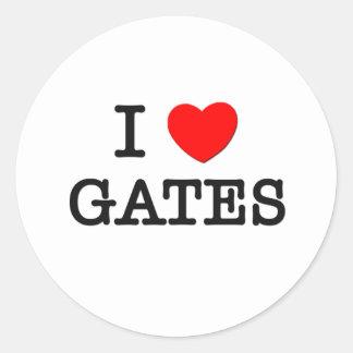 I Love Gates Round Stickers