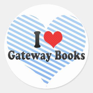 I Love Gateway Books Round Stickers