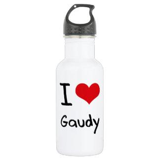 I Love Gaudy 18oz Water Bottle