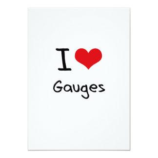 I Love Gauges Custom Invitation