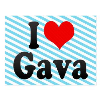 I Love Gava, Spain Postcard