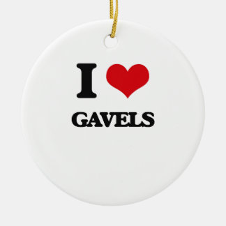 I love Gavels Double-Sided Ceramic Round Christmas Ornament