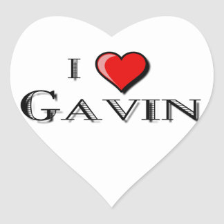 I Love Gavin Heart Sticker