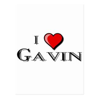 I Love Gavin Postcard