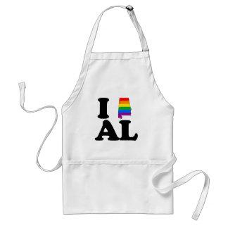I LOVE GAY ALABAMA --.png Adult Apron