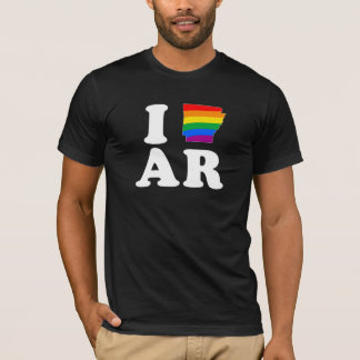 I LOVE GAY ARKANSAS -- WHITE -.png T-Shirt