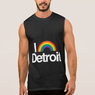 I LOVE GAY DETROIT -- .png Sleeveless T-shirts