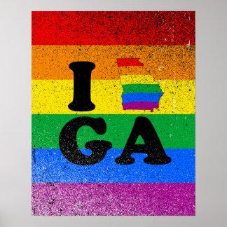 I LOVE GAY GEORGIA POSTER