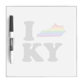 I LOVE GAY KENTUCKY DRY ERASE BOARDS
