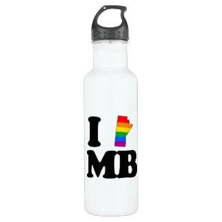 I LOVE GAY MANITOBA -.png 24oz Water Bottle
