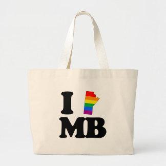 I LOVE GAY MANITOBA -.png Canvas Bag