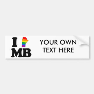 I LOVE GAY MANITOBA -.png Bumper Stickers