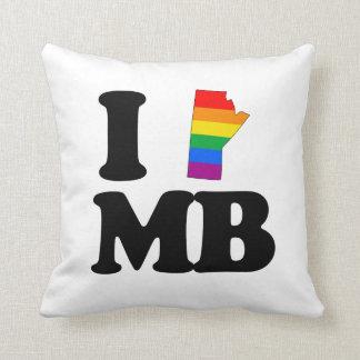 I LOVE GAY MANITOBA -.png Throw Pillow