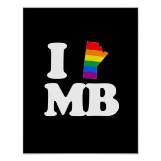 I LOVE GAY MANITOBA - WHITE -.png Poster